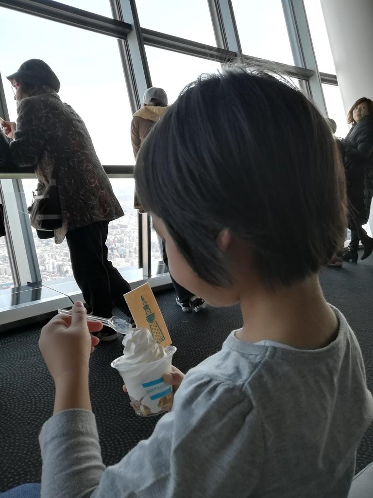 東京スカイツリーのソフトクリームは美味しいです