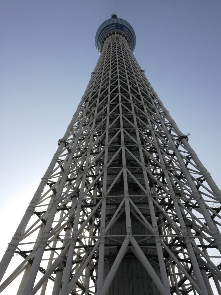 東京スカイツリーを真下から見上げた
