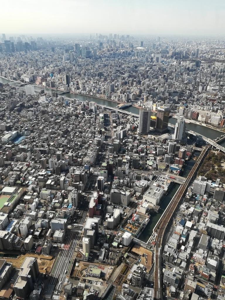 東京スカイツリーから新宿方面