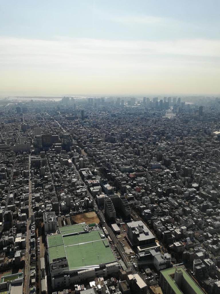 東京スカイツリーから丸の内方面