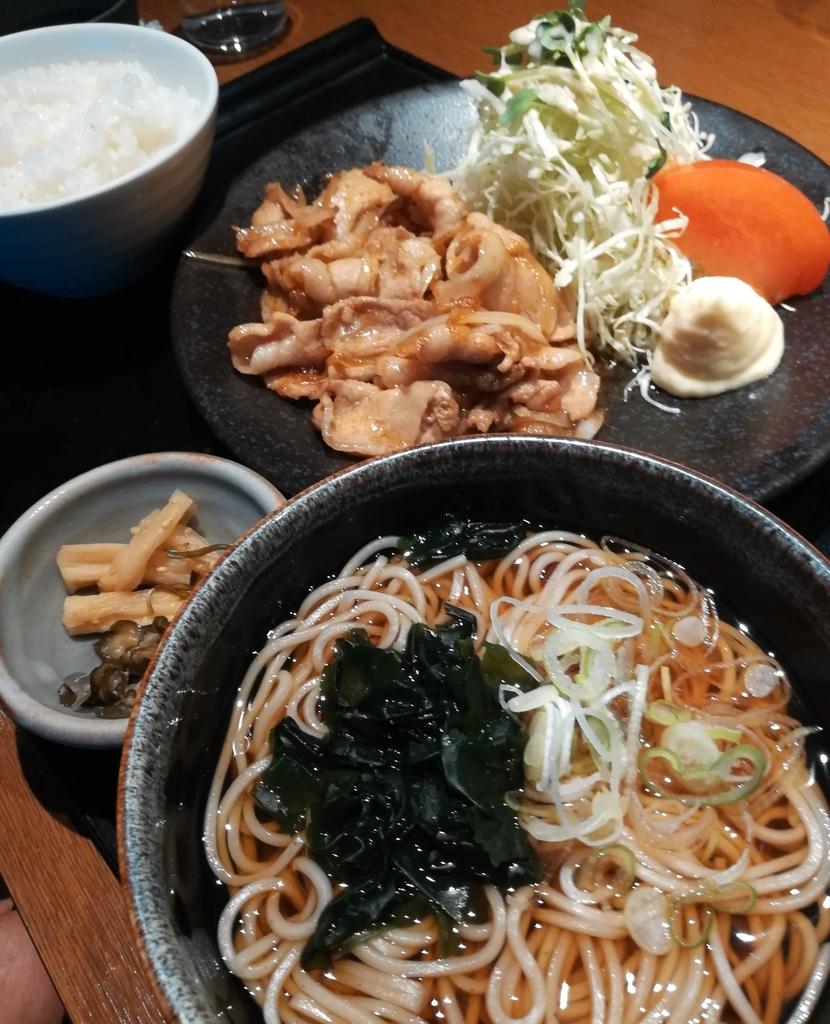 徳樹庵の豚バラ生姜焼き御膳はスタミナ満点!