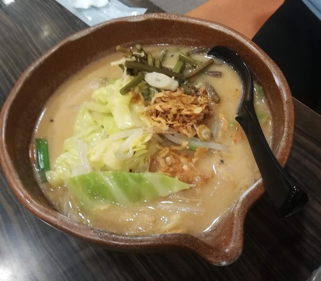 麺場 田所商店の信州味噌ラーメン(麺少な目)