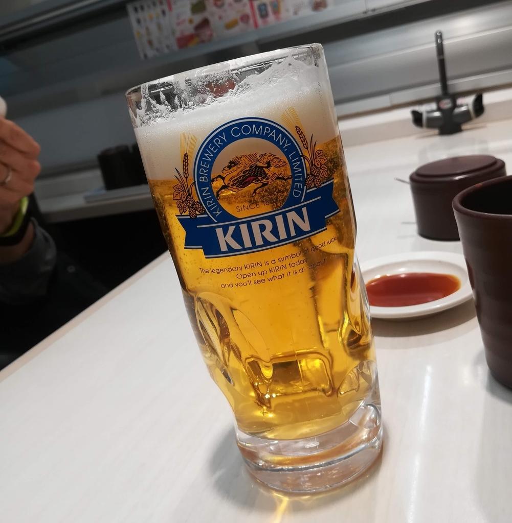 魚べいのビールは税込み496円!パパもうれしい!