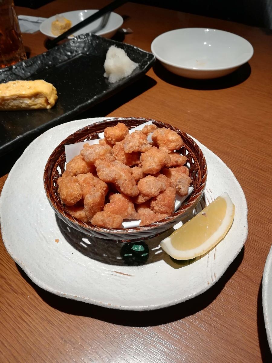 徳樹庵の鶏軟骨の唐揚げはこりこりでおいしい!