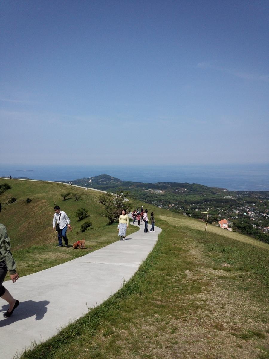 大室山の山頂はわりとアップダウンがあるので良い運動です!