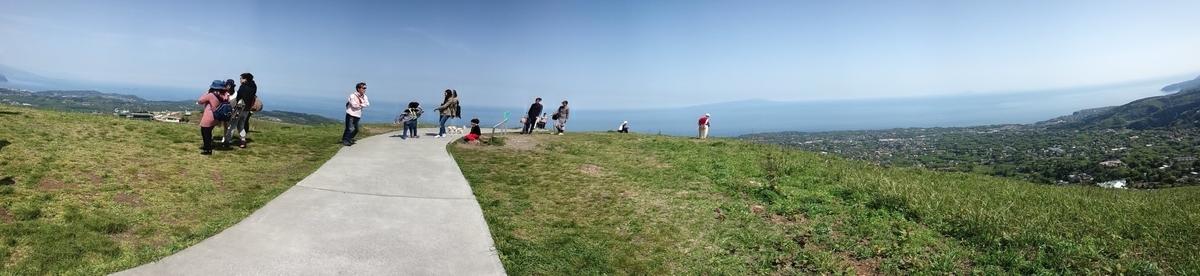 大室山山頂の大パノラマはぜひ一度は体験してほしい!天気の良い日に!