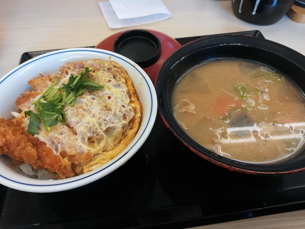 かつやのカツ丼(竹)ととん汁の大!