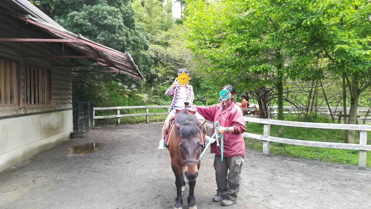 小田原わんぱくランドでは楽しい乗馬体験ができます