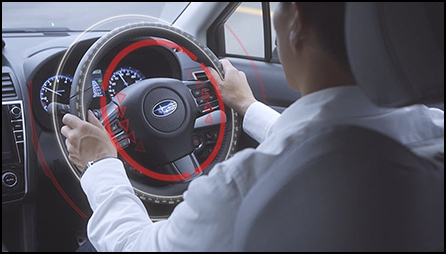 ハンドル制御で運転を支援していきます