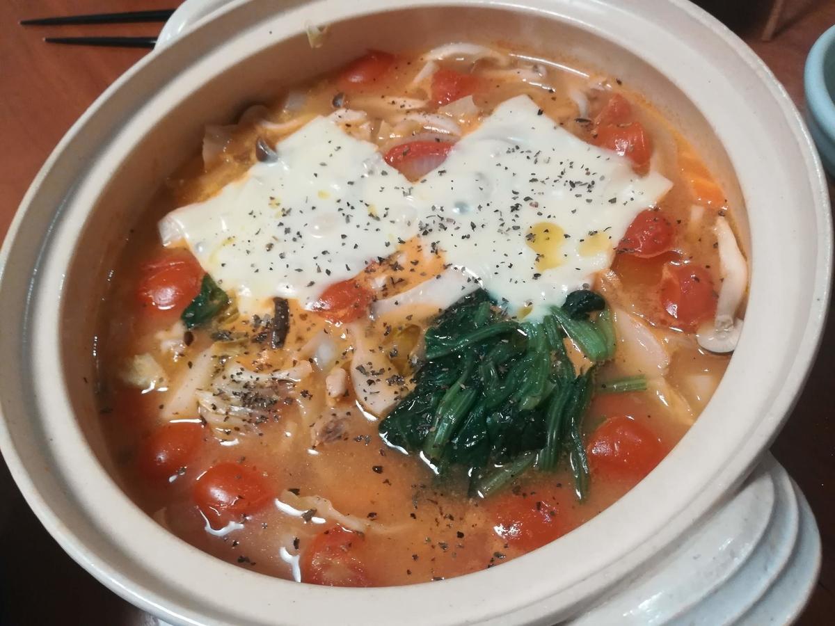 ダイショーのトマトチーズ鍋スープはカンタンでおいしい!