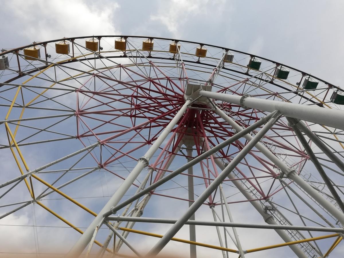 渋川スカイランドパークの観覧車はなまる