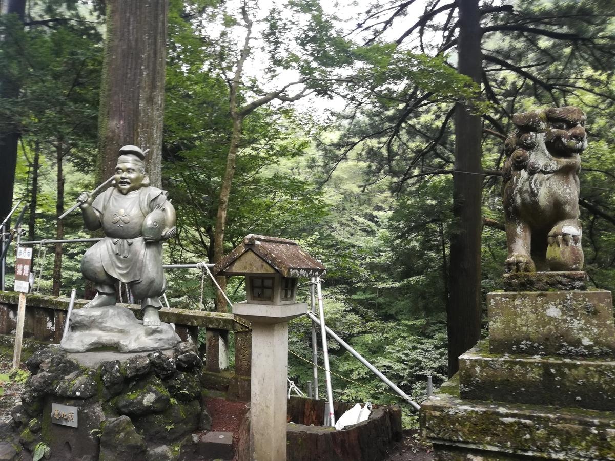 榛名神社参道の恵比寿様