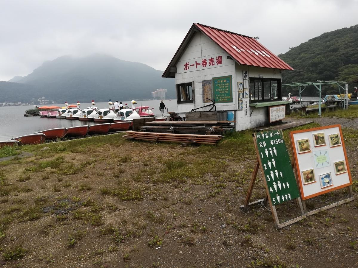 ボート屋さんは榛名湖にたくさんあります