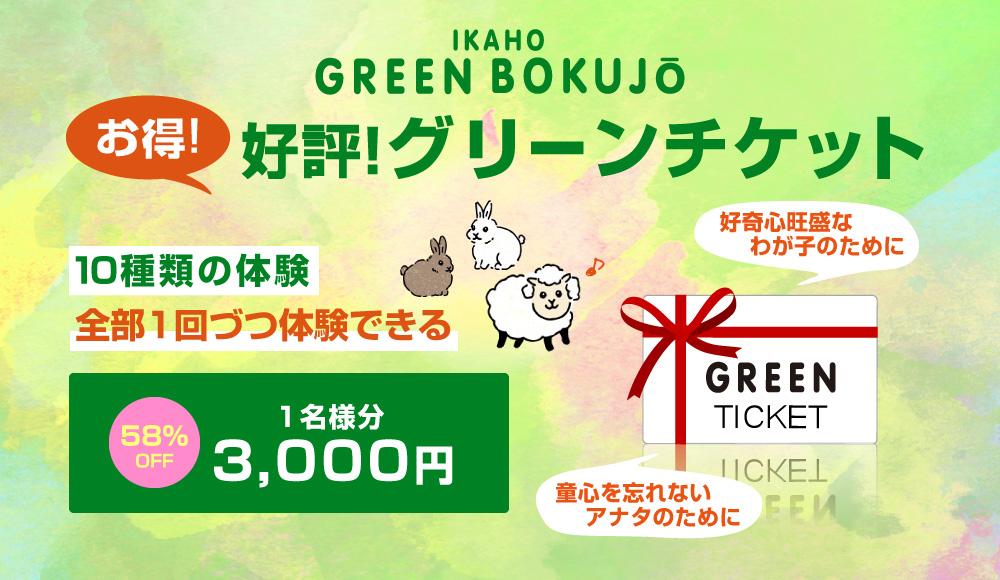 グリーンチケットでたっぷり体験を満喫することもできます!