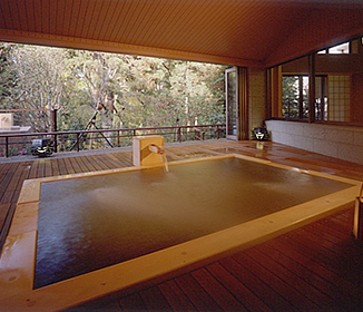 天晴のこがねの湯の露天風呂は最高です!