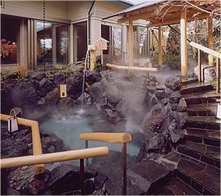 露天風呂で散歩できますよ