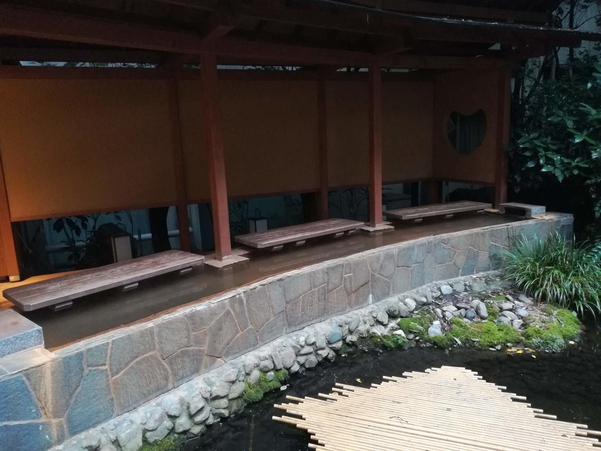 ホテル天坊の足湯はもちろん伊香保温泉です