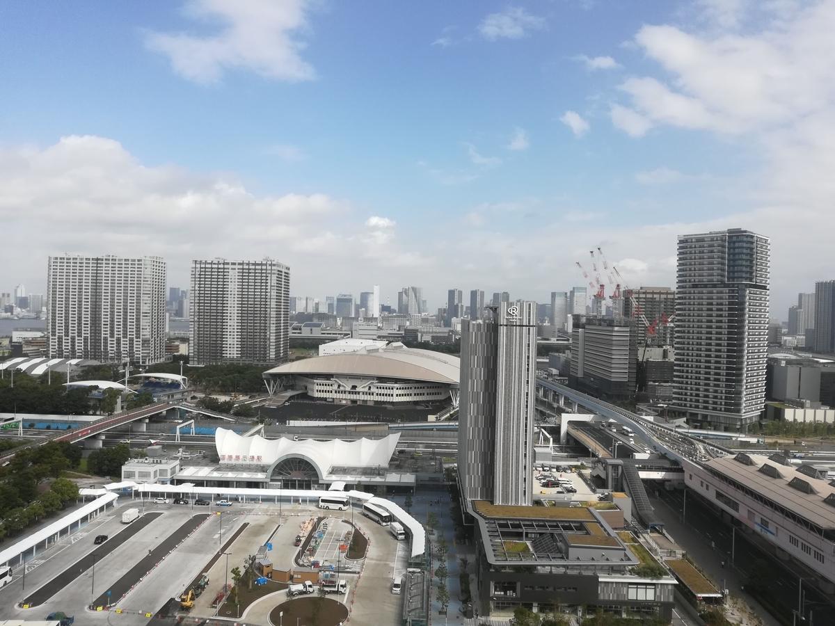 東京ベイ有明ワシントンホテル18階スーペリア禁煙ダブルルームからの眺望