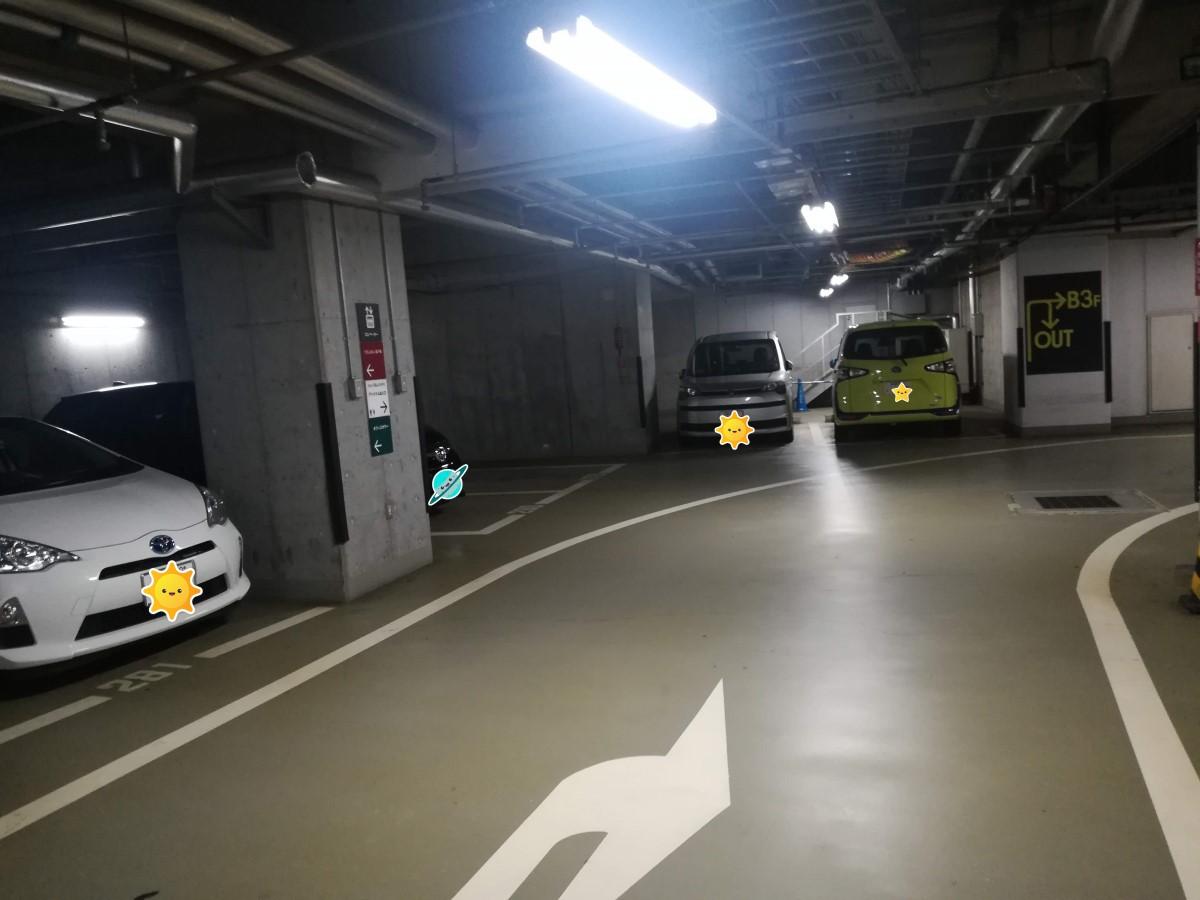 東京ベイ有明ワシントンホテルの駐車場は広くて自走式なので大きな車も停められます!