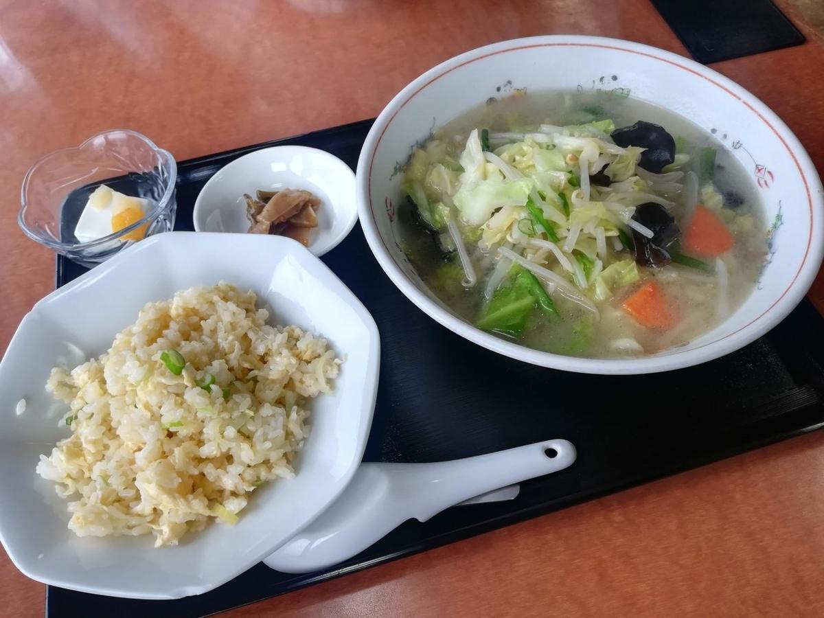 先日食べた中華料理屋のタンメン