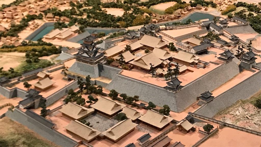 名護屋城のジオラマ