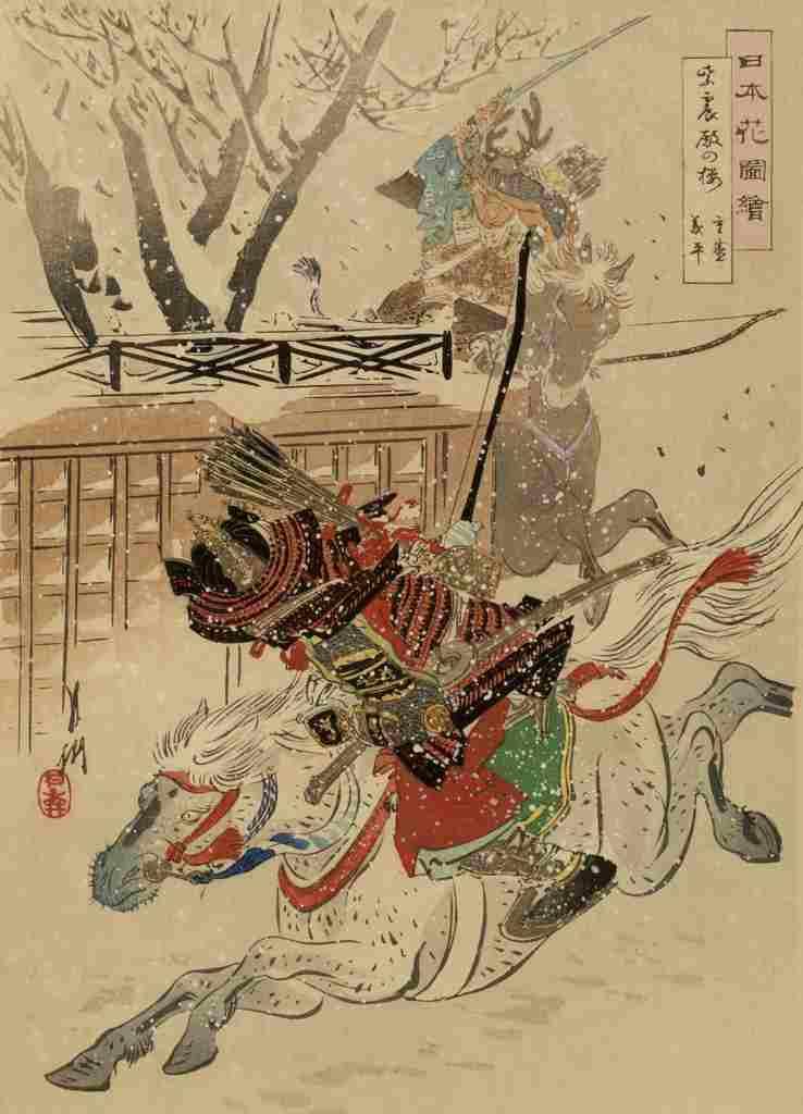 『紫宸殿の橘』(尾形月耕『日本花図絵』)源義平と平重盛
