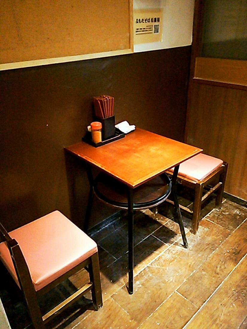 地下の椅子席