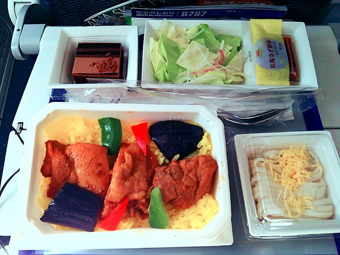 機内食のタンドリーチキン
