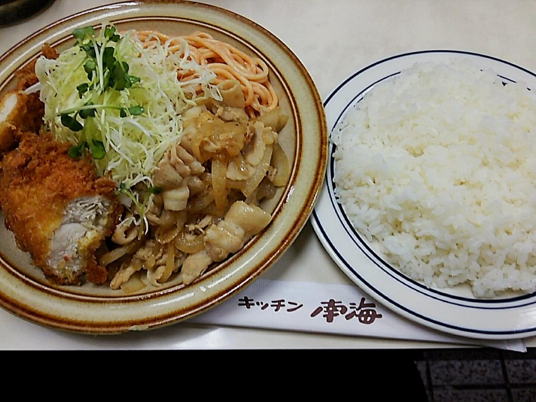 チキンカツと生姜焼き