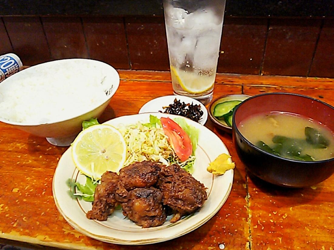 鶏唐揚げ定食