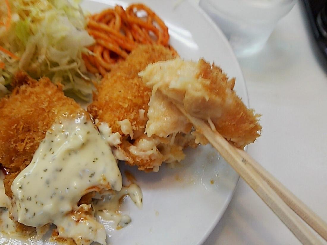 ハンバーグ、魚フライ、クリームコロッケ