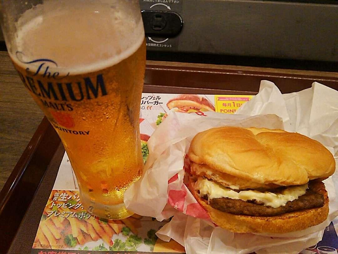 バーガー+ビール