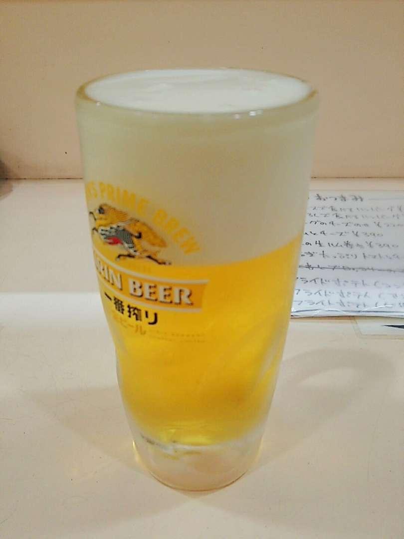 ビール180円