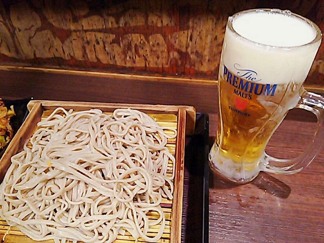 蕎麦とビール