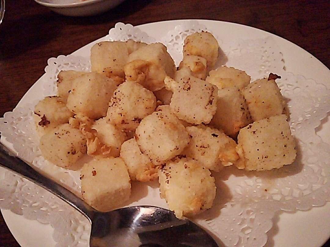 豆腐の塩胡椒冷菜