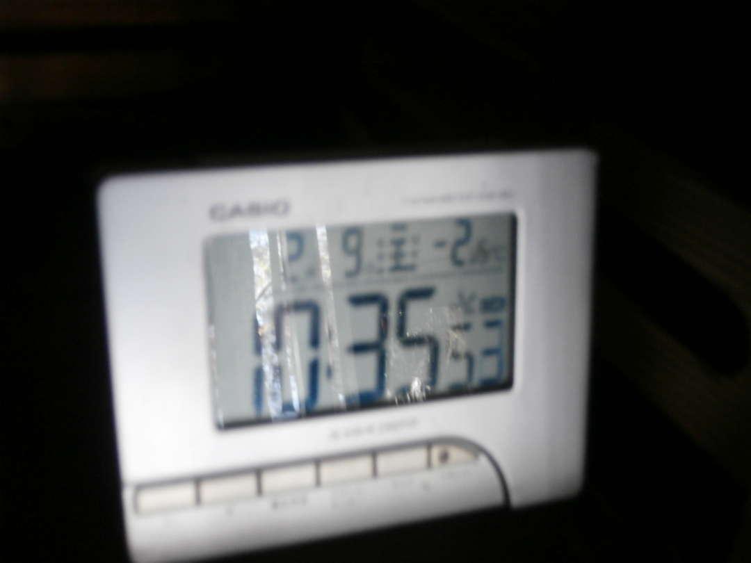 気温-2.5℃