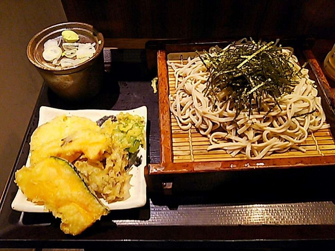野菜天ぷら+十割蕎麦