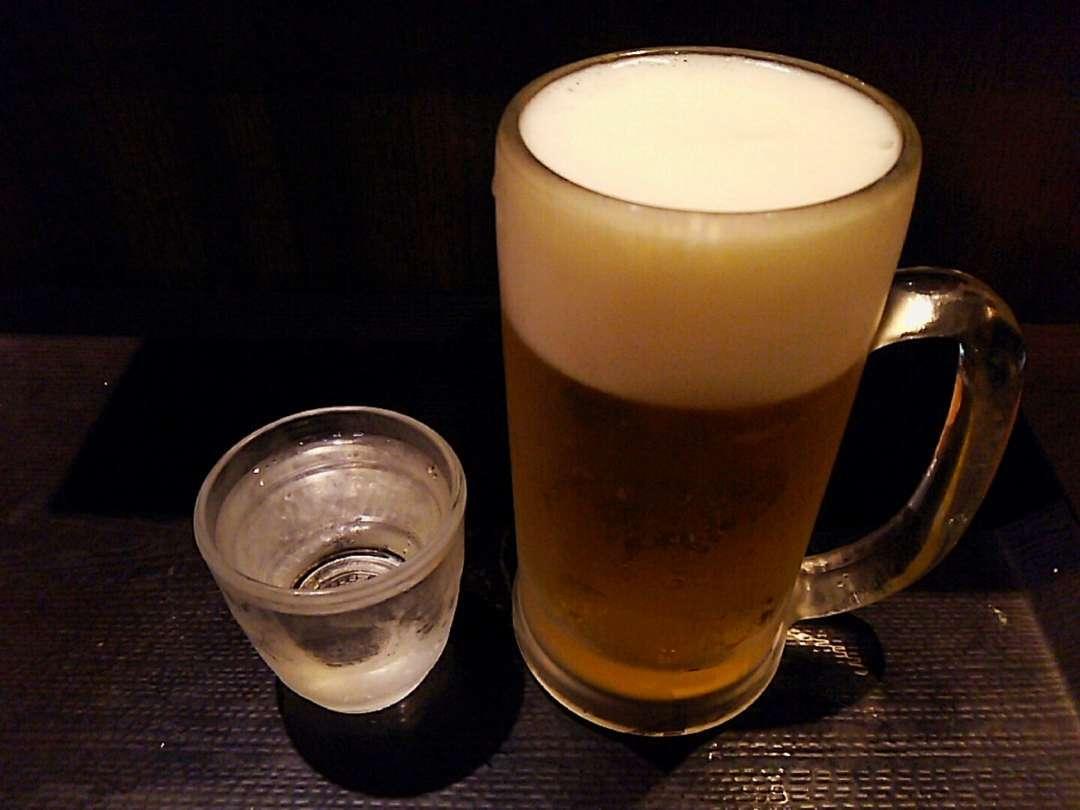 生ビールと日本酒