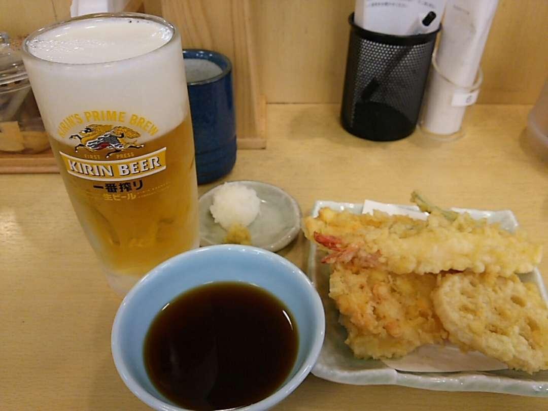 天ぷらビールセット