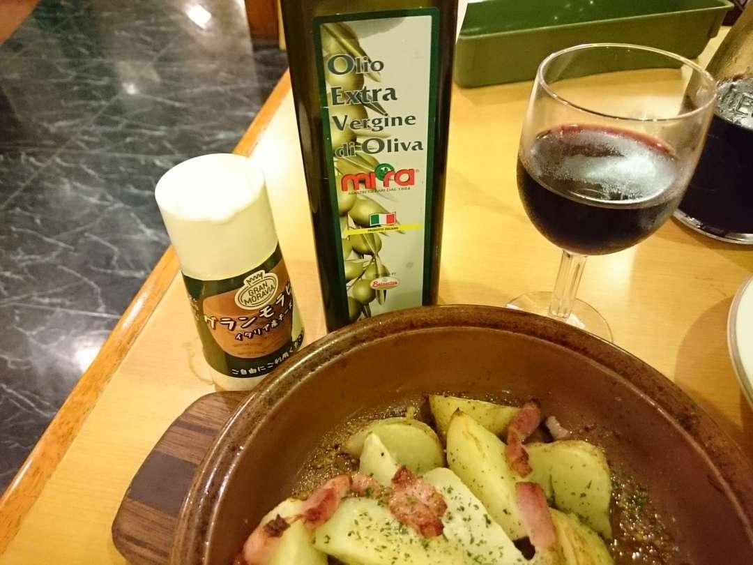 オリーブオイルとグランモアビア