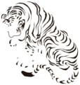 カニッツァの虎(伊藤若冲 猛虎図より)