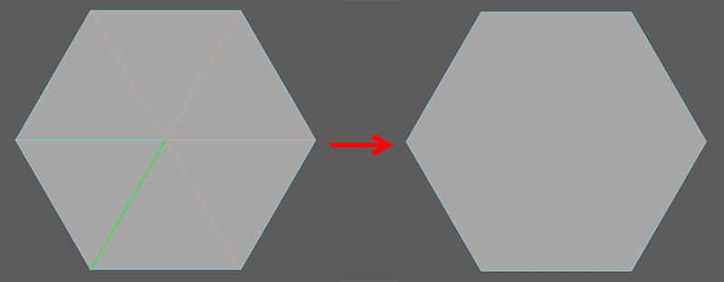正六角形作成の図3