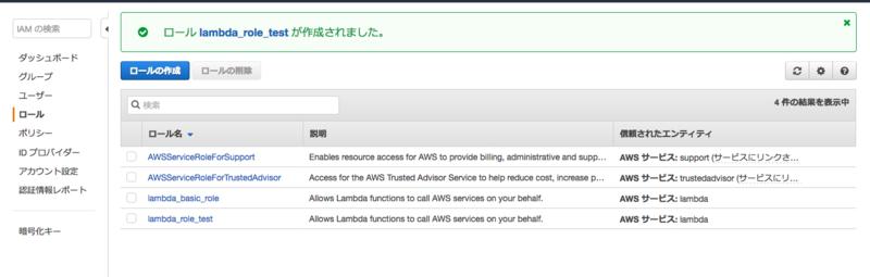 5_AWS_のロール一覧画面