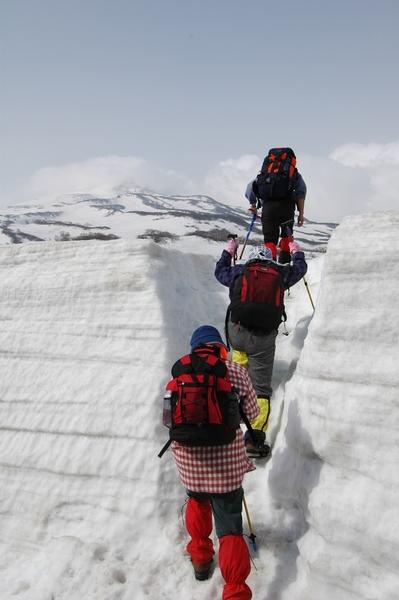 鳥海山、山頂目指して、出発!