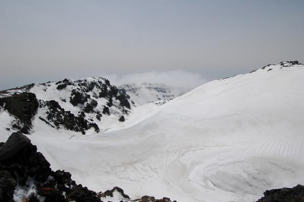 鳥海山、山頂からの景色。