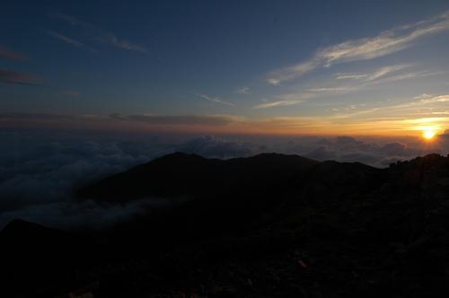 駒ヶ岳の朝日