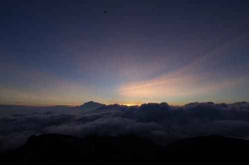 空木岳からの朝日