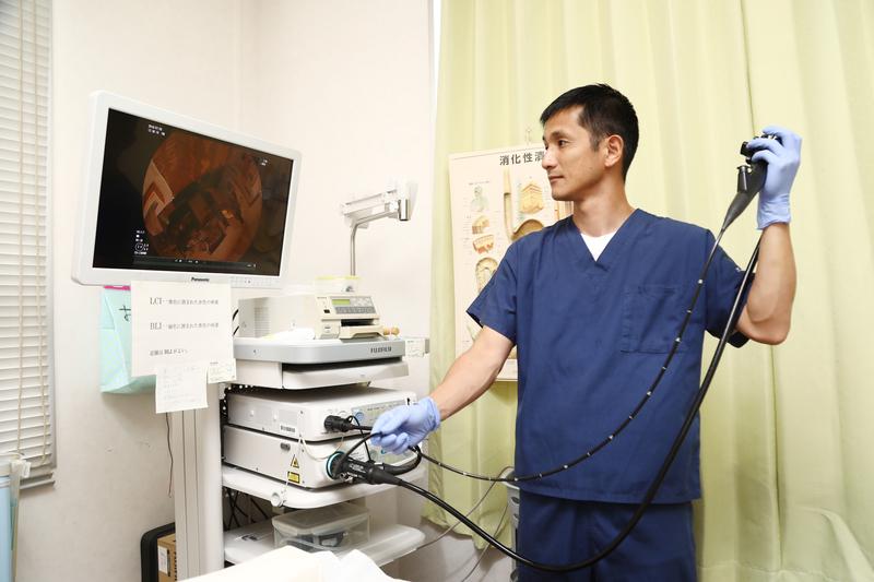 「五島で唯一の内視鏡専門医」が「無痛内視鏡検査」を行っています。ご気軽にご相談ください。
