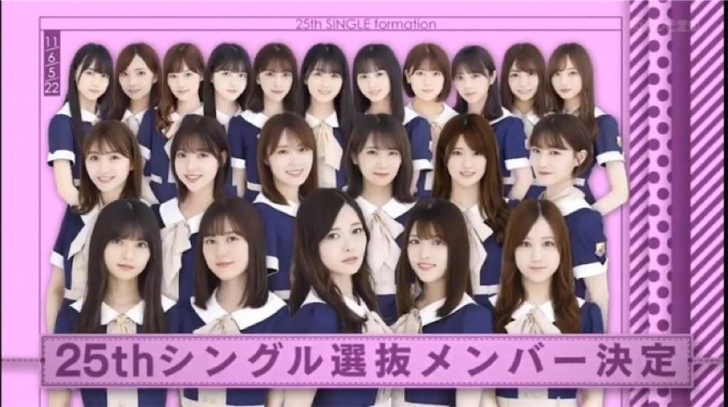 乃木坂 25 枚 目 シングル 選抜