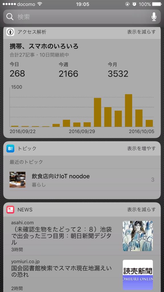 iphoneウィジェットIOS10